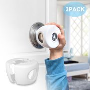Baby Safety Round Door Locks for Knobs Child Safety Cabinet Latches for Home Safety for Baby Proofing Cabinets Kitchen Door No Drill No Screw No Adhesive