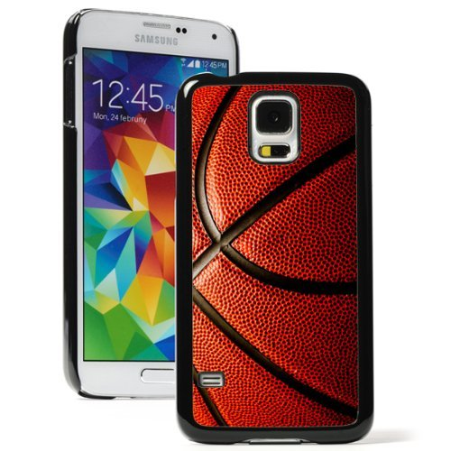 Samsung Galaxy (S5 Mini) Hard Back Case Cover Basketball Closeup (Black)
