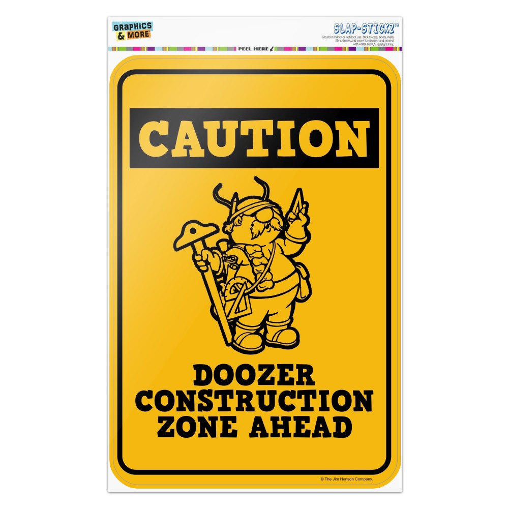 Doozer Construction Zone Ahead Fraggle Rock Home Business