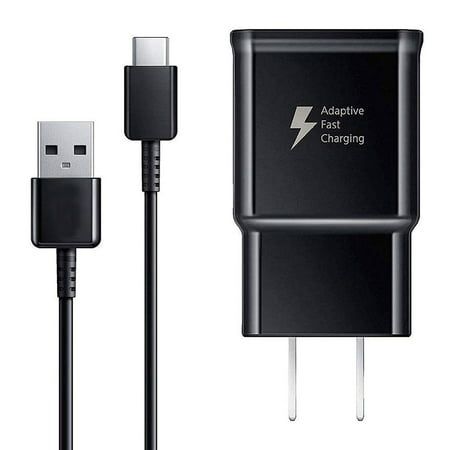 Original Samsung OEM Adaptive Fast Charger Compatible Samsung Galaxy S9 S9 Plus S8 S8+ S10 S10e Note 8 Note 9 Note 10, USB Fast Wall Charger Adapter Block with 4FT USB Type C Cable Data Cord Kit