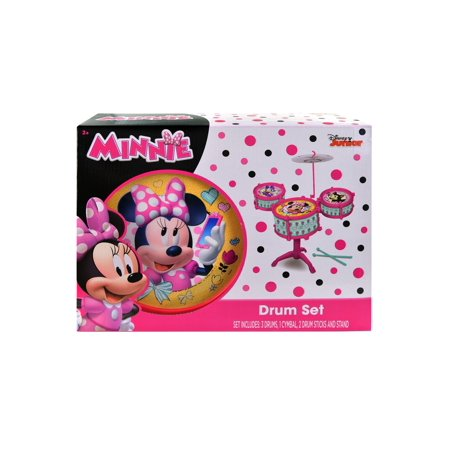 Baby 2 Year Old Toys Kids Toddlers Girls Pink Music Drum Set Stand Minnie Mouse (Toys For A 2 Year Old)