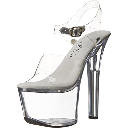 Womens Sexy Shoes High Heels Platform Sandals Clear Platform Black or Clear