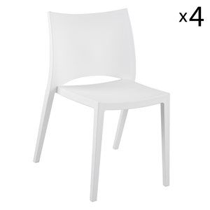Euro Style 90034 Leslie Stacking Chair (4 Pack)