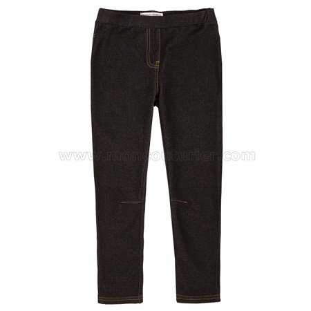 Deux par Deux Girls' Jeggings Black, Sizes 2-12 - 2 - image 2 of 2