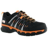 Herman Survivor Professional Series Men's Handler Safety Shoe, ASTM Rated Composite Toe, Slip Resistant, Grey and Orange