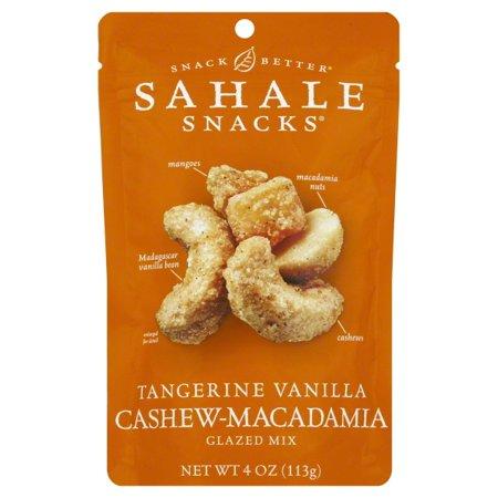 Sahale Snacks Tangerine Vanilla Cashew-Macadamia Glazed Mix, Gluten-Free Snack, 4 Ounces