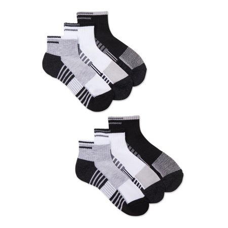 Athletic Works Boys Ankle Socks, 6 Pack