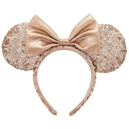 3d58ba4ef68 Disney - Minnie Mouse Ears Rose Gold Walt Disney World Authentic  Merchandise - Walmart.com