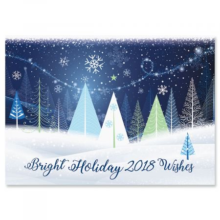 Holiday trees christmas cards set of 18 holiday greeting cards holiday trees christmas cards set of 18 holiday greeting cards m4hsunfo