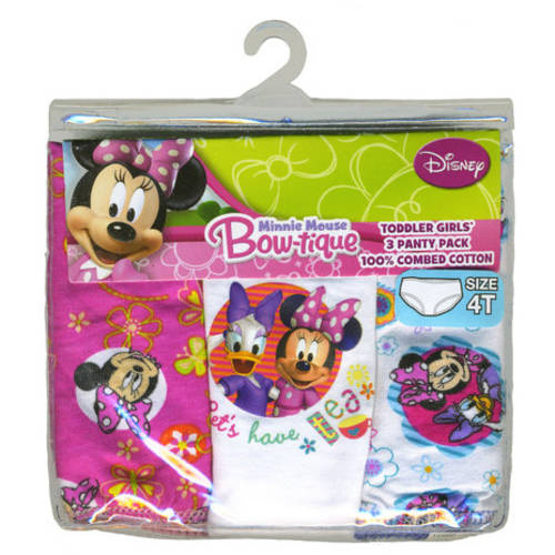 Disney Minnie Mouse Toddler Girl Underwear, 3-Pack