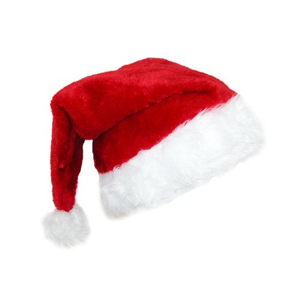 Santa Hats For Sale (Size one size Deluxe Plush Trim Santa Novelty Holiday)