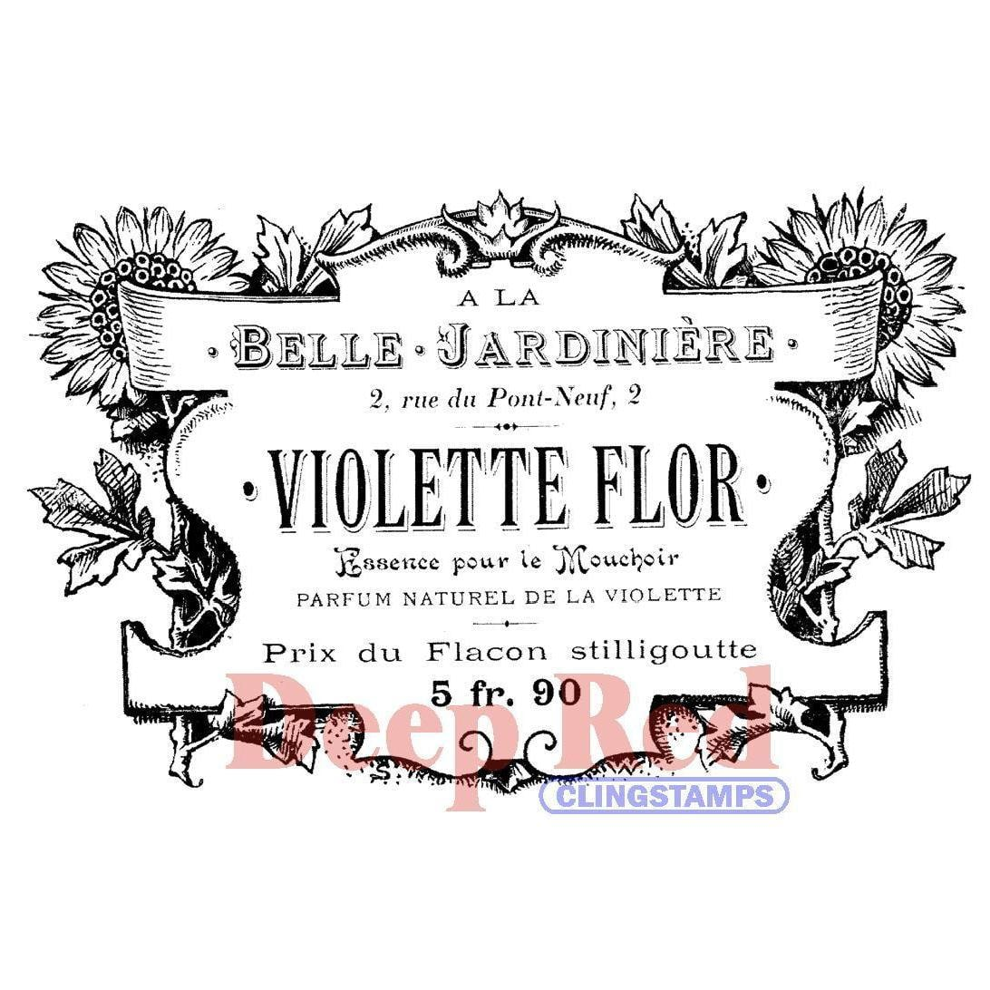 Deep Red Stamps Deep Red Cling Stamp - French Perfume Label