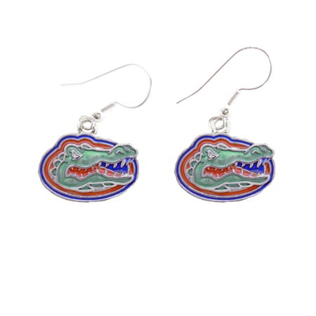 Florida Gators Iridescent Silver French Hook Orange Blue Charm Earring Jewelry Uf