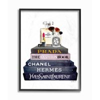 Stupell Industries Glam Fashion Book Set With Makeup Framed Wall Art by Amanda Greenwood
