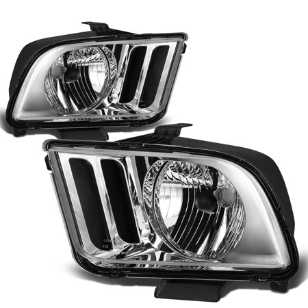 For 05 09 Ford Mustang Oe Replacement Headlight Lamps Kit  Chrome Housing    Pony 5Th Gen 06 07 08