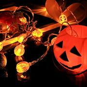 Halloween Pumpkin String Lights 9.8 ft 20 LED Pumpkin Lights Battery Operated String Lights for Halloween Home Patio Garden Gate Yard Decorations