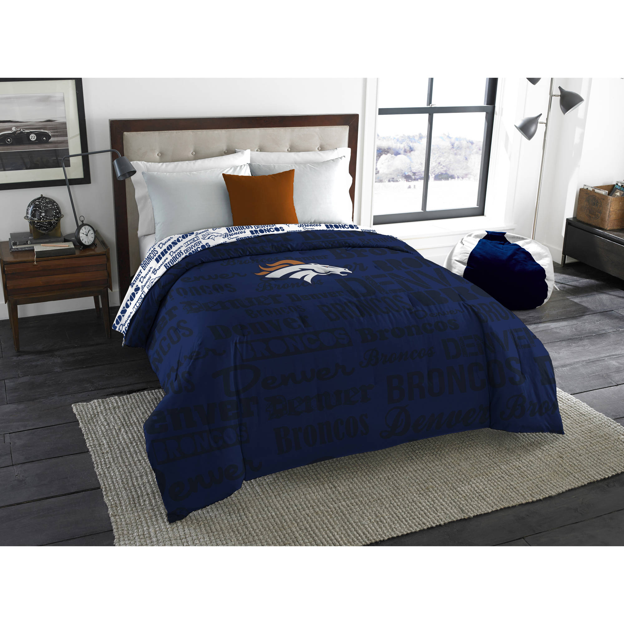 "NFL Denver Broncos ""Anthem"" Twin/Full Bedding Comforter"