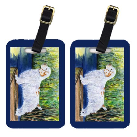 Pair of 2 Clumber Spaniel Luggage Tags