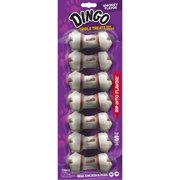 Dingo Triple Treats Mini Bones w/ Real Chicken & Pork, 7-Count