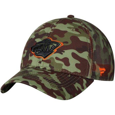 Minnesota Wild Fanatics Branded Recon Trucker Adjustable Hat - Camo - OSFA