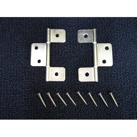 Mobile Home RV Parts Interior Door Hinges Package of 6 Non-mortise Brass -