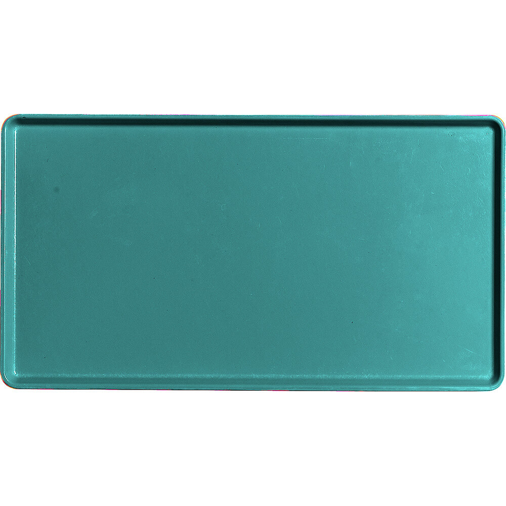 """Cambro 12"""" x 22"""" Healthcare Food Trays, Low Profile, 12PK, Teal, 1222D-414"""