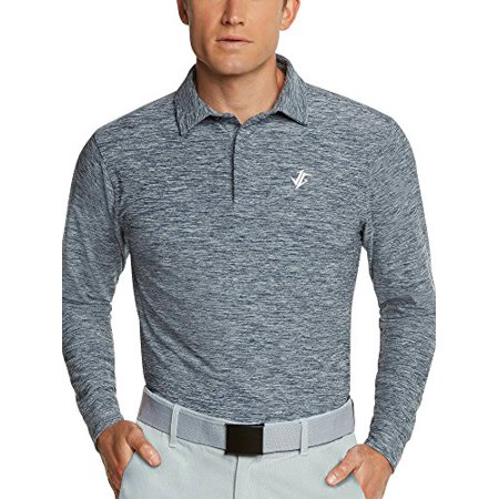 b6e4b3c5f Jolt Gear, Men's Dry Fit Long Sleeve Polo Golf Shirt, Moisture Wicking,  Blue XL - Walmart.com