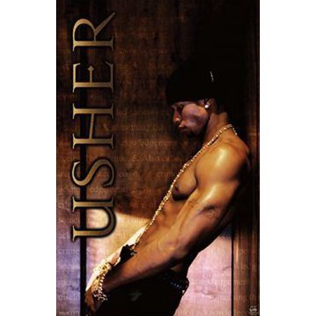 Usher The Truth Tour Poster Music 34.5x22.5 Art Print Poster   R&B RnB Sexy Pose Leaning against (Usher Picture)