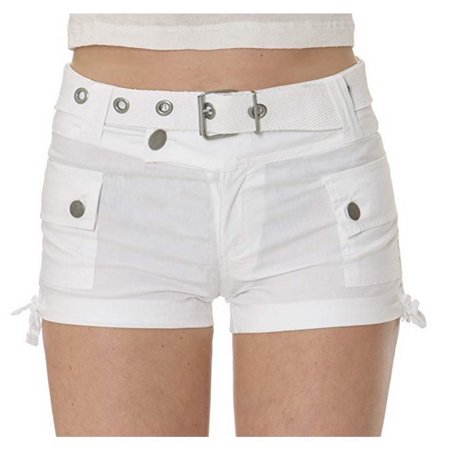 Helium London Juniors Stretch Poplin Web Belt Cargo Shorts Sz S-2X A10887RM