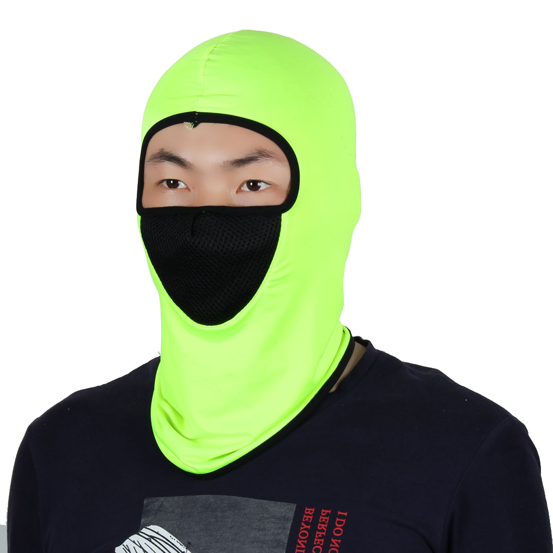 Mask Outdoor Sport Cycling Neck Protector Hat Helmet Balaclava Fluorescent Green by Unique-Bargains