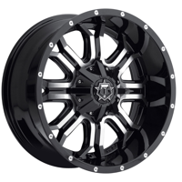 TIS 535MB Machined Black 20x9 5x5 / 5x5.5 0mm (535MB-2090900)