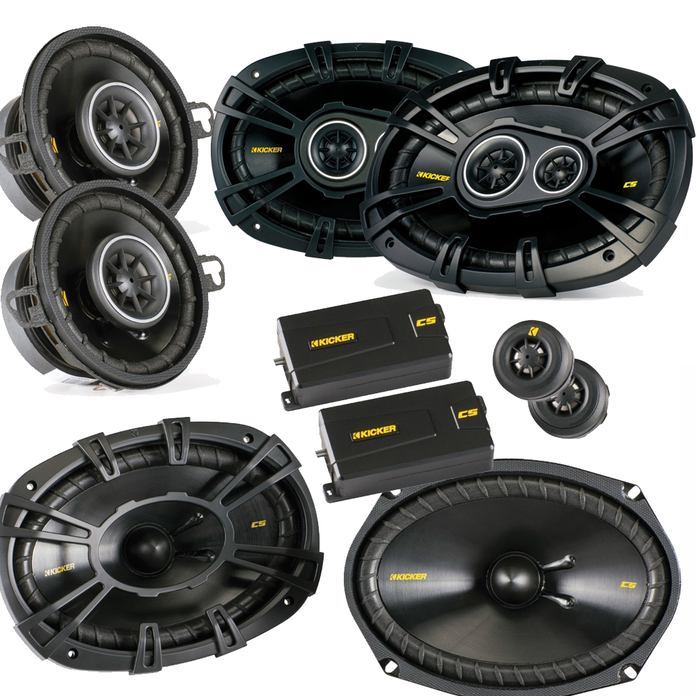 "Kicker for Dodge Ram Crew Cab 2012+ bundle- CS 6x9 components, CS 6x9 coaxials, and CS 3.5"" coaxials"