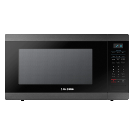 Refurbished Samsung MS19M8000AG/AA Large Capacity Countertop Microwave Oven, Black Stainless Steel