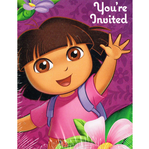 Dora the Explorer 'Flower Adventure' Invitations & Thank You Notes w/ Env (8ct)