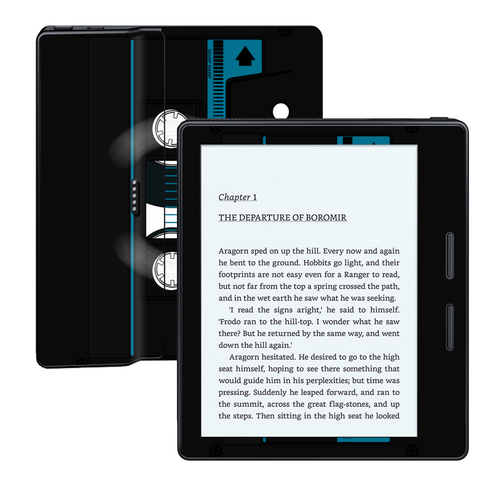 MightySkins Protective Vinyl Skin Decal for Amazon Kindle Oasis wrap cover sticker skins Cassette Tape