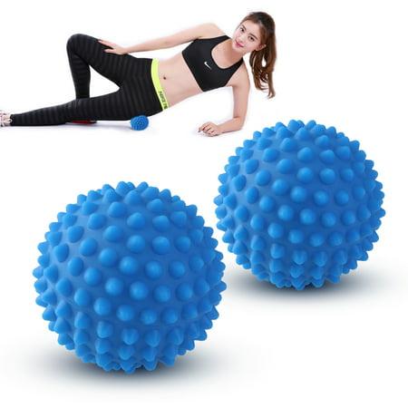 2pcs hérissés boule de massage pour fasciite plantaire Stress Réflexologie Porcupine Boule sensorielle Set
