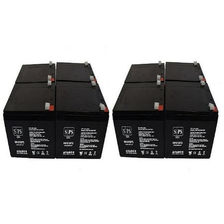 SPS Brand 12V 12Ah Replacement Battery for Eaton NET 700 RACKMOUNT (8 Pack)