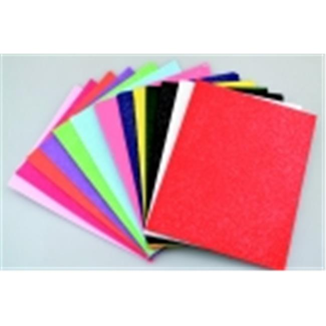 Pack of 25 New Image Group 9 x 12 Inches Fire Red CPE Acrylic Washable Decorator Felt Set