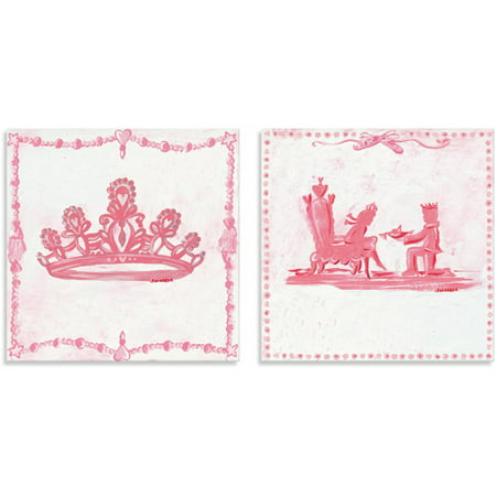 Oopsy Daisy Too Princess, Crown/Throne Canvas Wall Art, Set of 2 ...