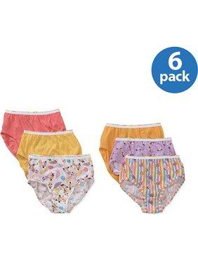 Hanes Girls Brief Underwear, 6 Pack Panties Sizes 6 - 16