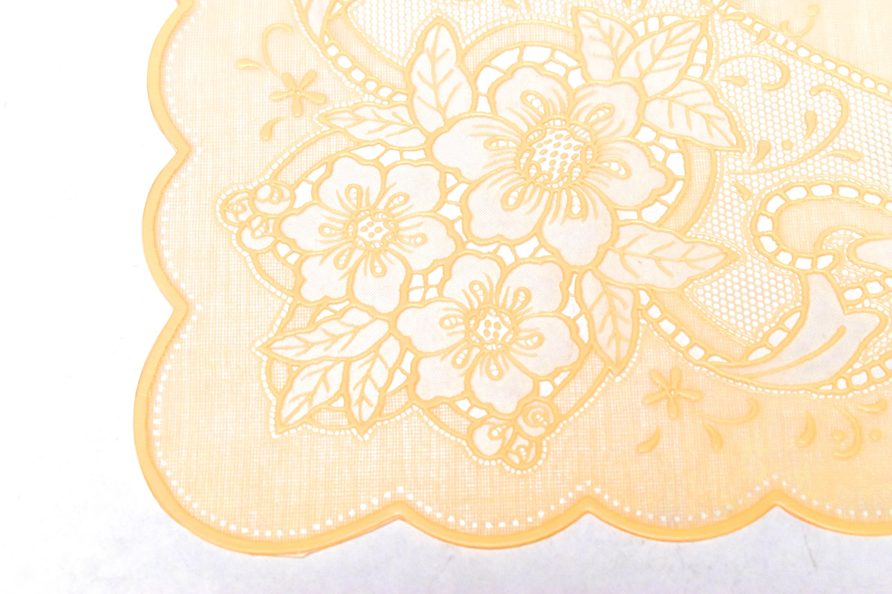 Eight Vinyl Lace Easy Care 12x18 Placemats Ivory Off White Walmart Com Walmart Com