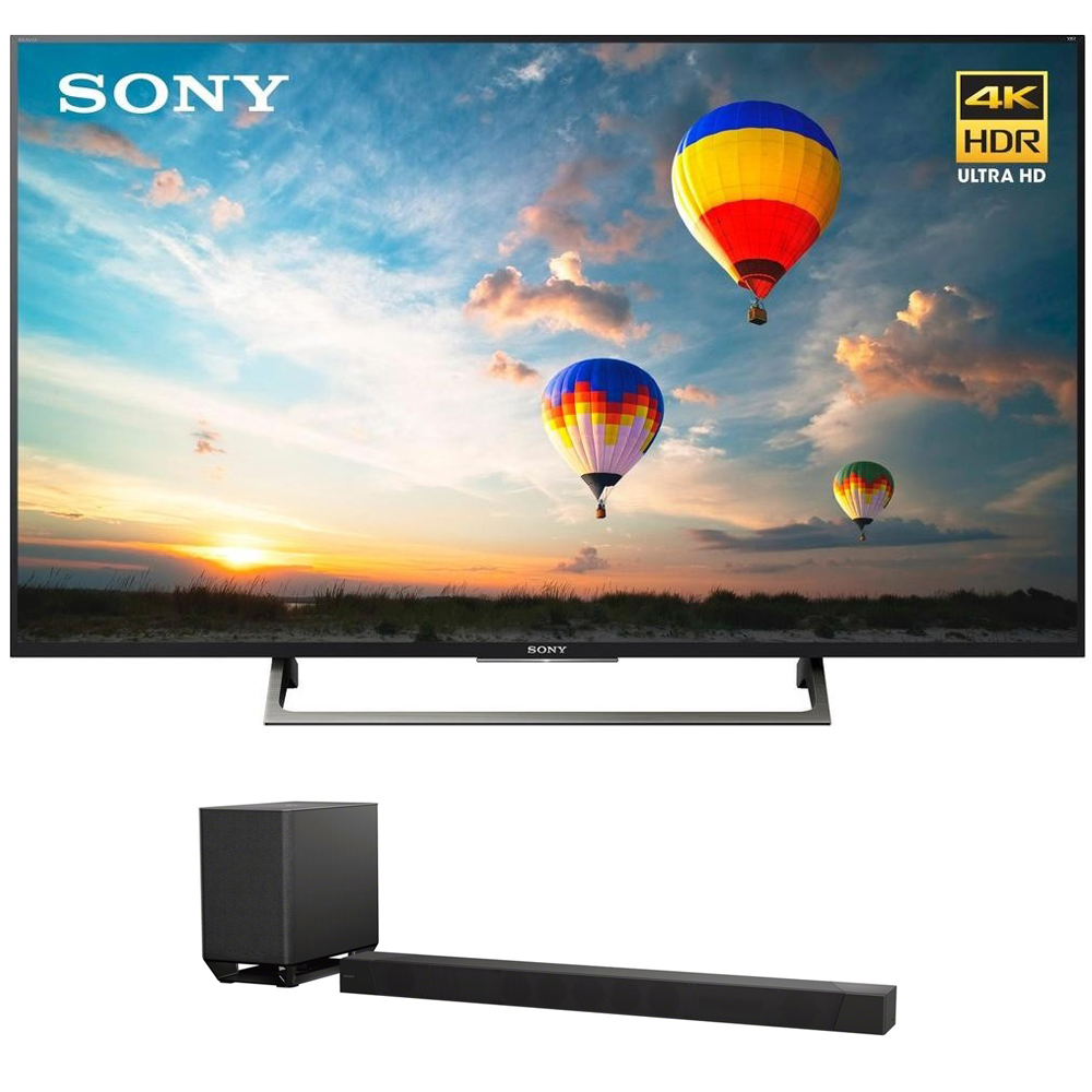 "Sony 55"" Class 4K Ultra HD (2160P) HDR Android Smart LED TV (XBR55X800E) with Sony HT-ST5000 7.1.2ch Dolby Atmos Soundbar"