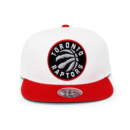 a219051a1 Mitchell and Ness Toronto Raptors XL Logo 2 Tone Red/White Snapback Hat -  image ...