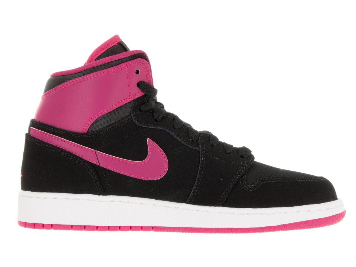Nike 332148-008 : Jordan Kids Air Jordan 1 Retro Basketball High GG Black/Vivid Pink/White Basketball Retro Shoe 4 Kids US (8.5 M US Toddler) 2185f8