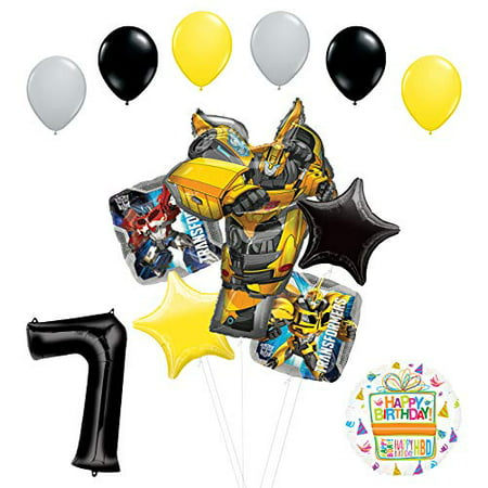 Transformers Mayflower Products Bumblebee 7th Birthday Party Supplies Balloon Bouquet Decorations](Transformer Balloons)