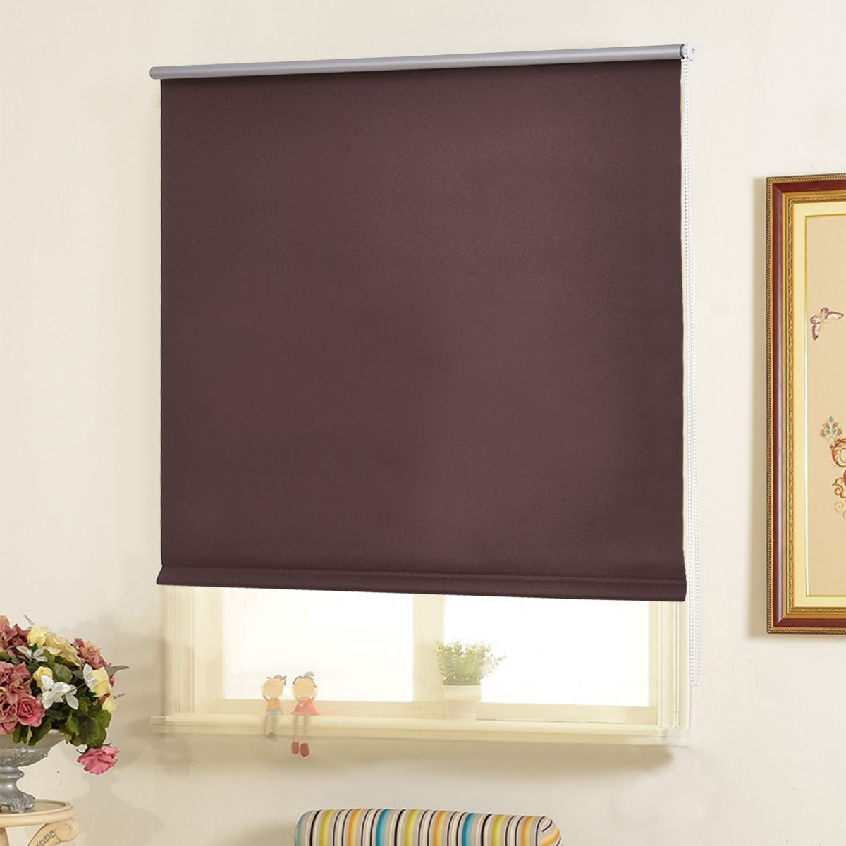 Goplus 35''x60'' Roller Full Blinds Blackout Sunscreen Sun Shade Curtain Window 4 Color