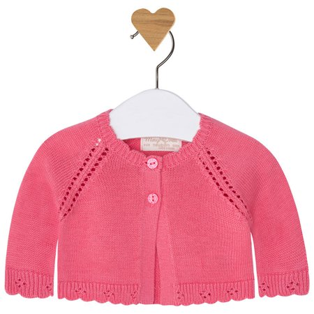 36833c9fefa3 Mayoral - Mayoral Baby Girl 0M-12M Fancy Edge Knit Bolero Cardigan ...