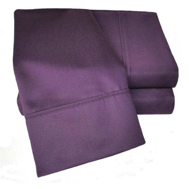 Coton Rich 1000 Nombre de fil feuille solide twin-set XL-Plum - image 1 de 1