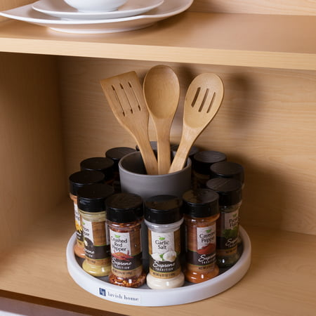 Lazy Susan Turntable Spice Rack- Rotating Cabinet, Shelf and Pantry Organizer by Lavish Home (Great for Kitchen and Household Organization) (Great Organizer)