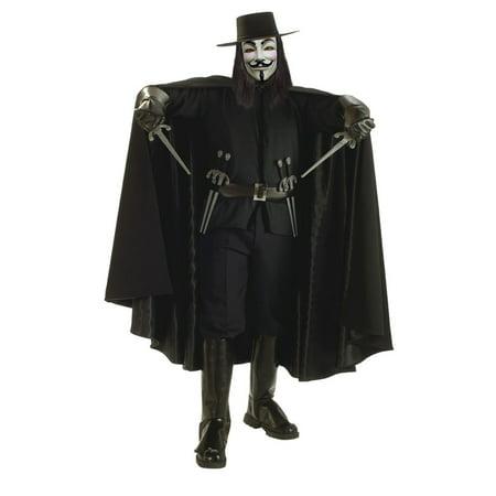 V for Vendetta Grand Heritage Adult Halloween Costume, Size: Men's - One Size - Vendetta Di Halloween Trailer